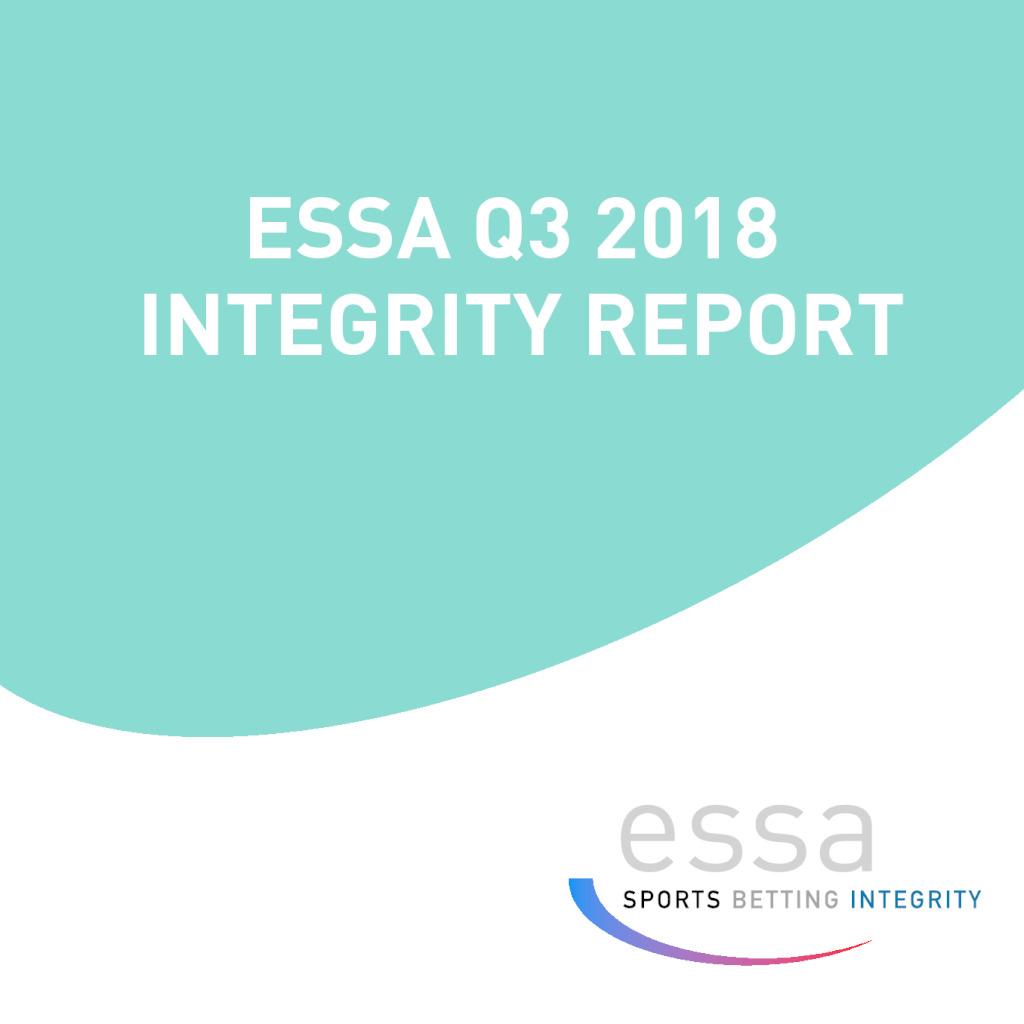 ESSA Q3 2018 INTEGRITY REPORT
