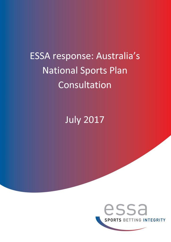 ESSA response: Australia's National Sports Plan Consultation (7/2017)
