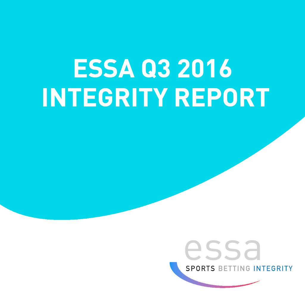 ESSA Q3 2016 INTEGRITY REPORT