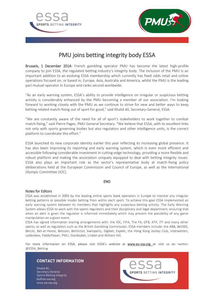 PMU joins ESSA