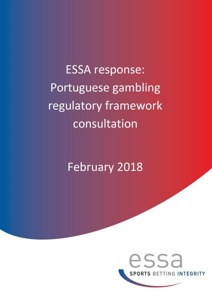 ESSA response: Portuguese gambling regulatory framework consultation (2/2018)