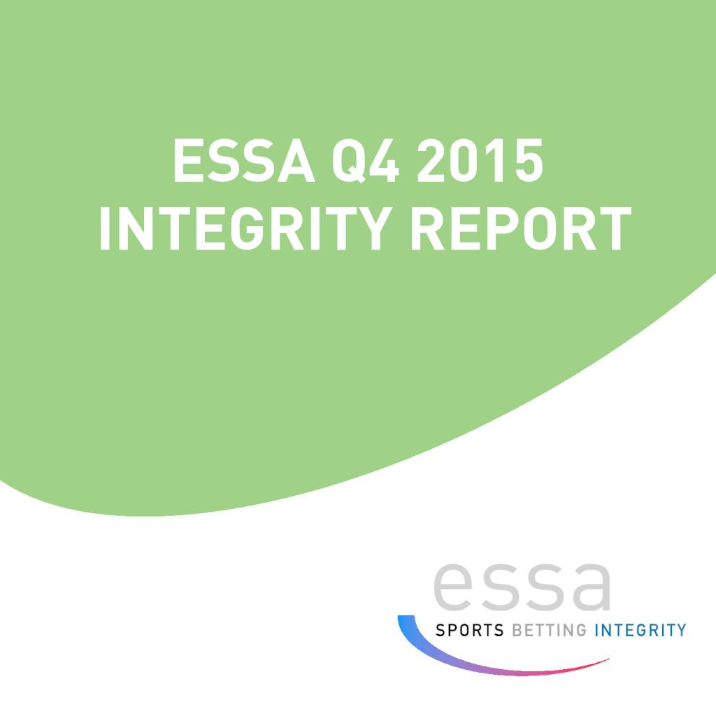 ESSA Q4 2015 INTEGRITY REPORT