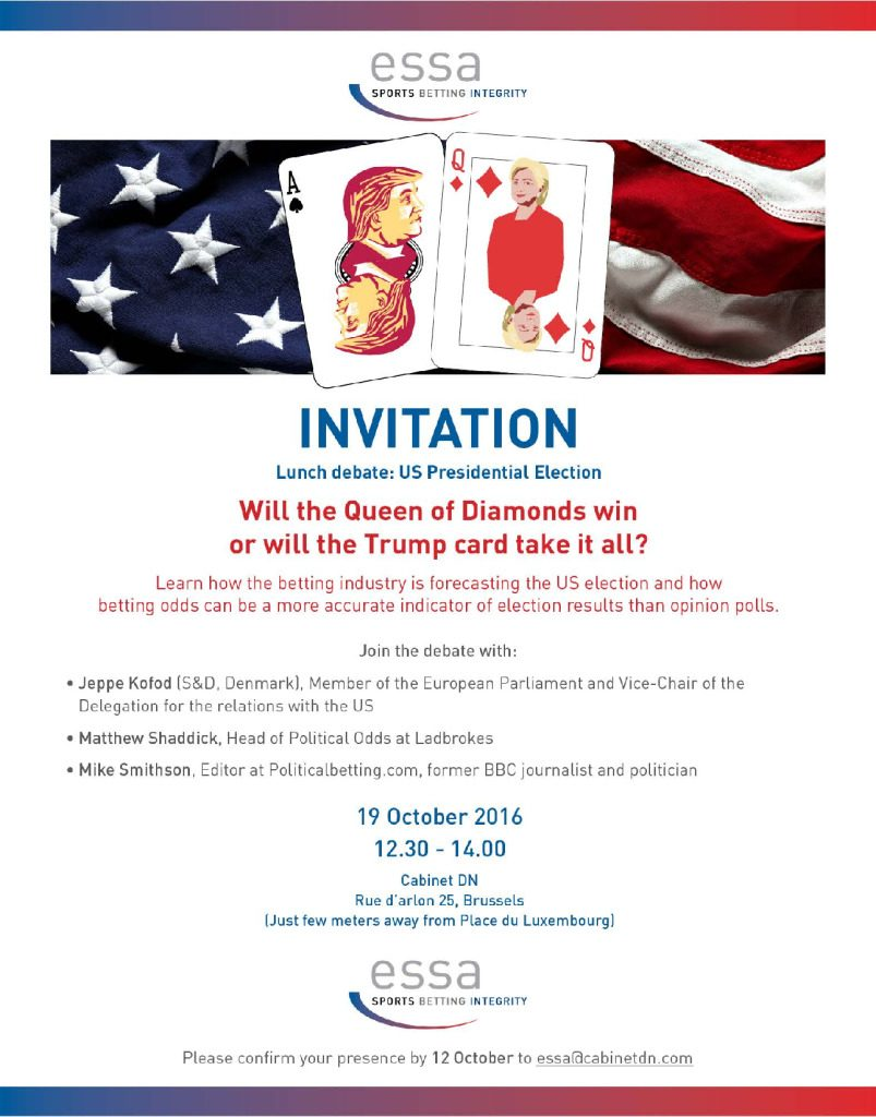 Invitation: Lunch debate: US Presidential Election – 19/10/2016