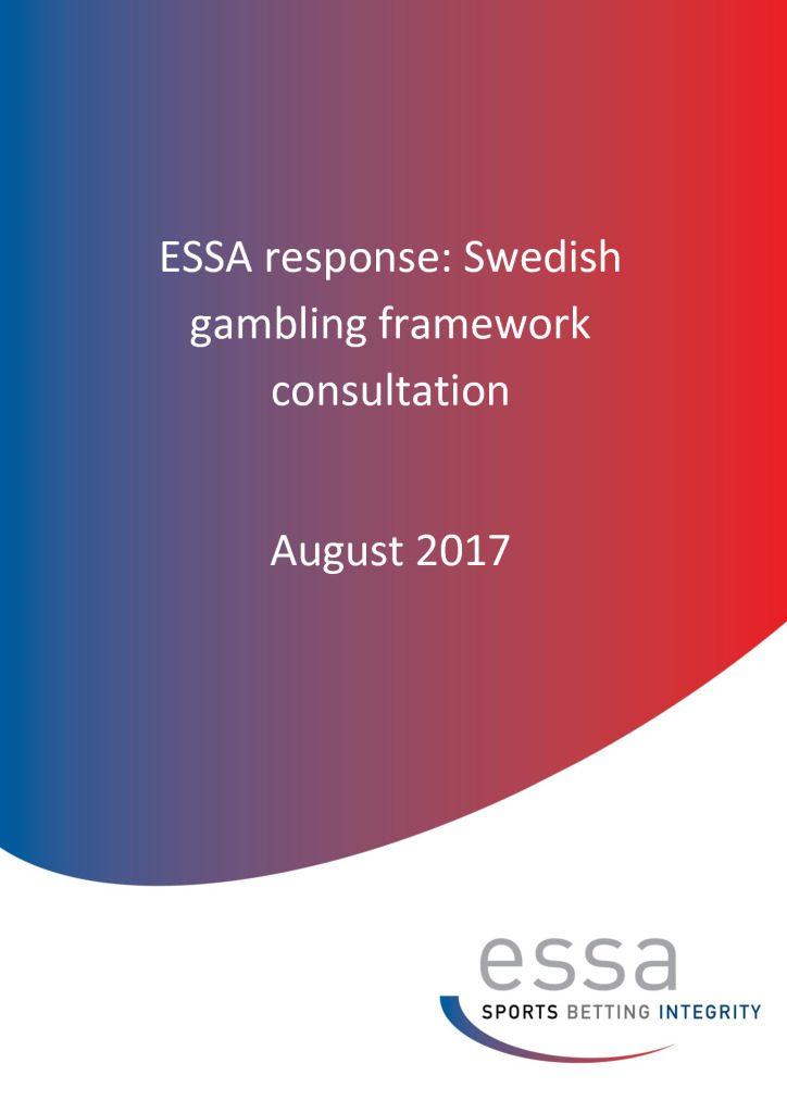 ESSA response: Swedish gambling framework consultation (8/2017)