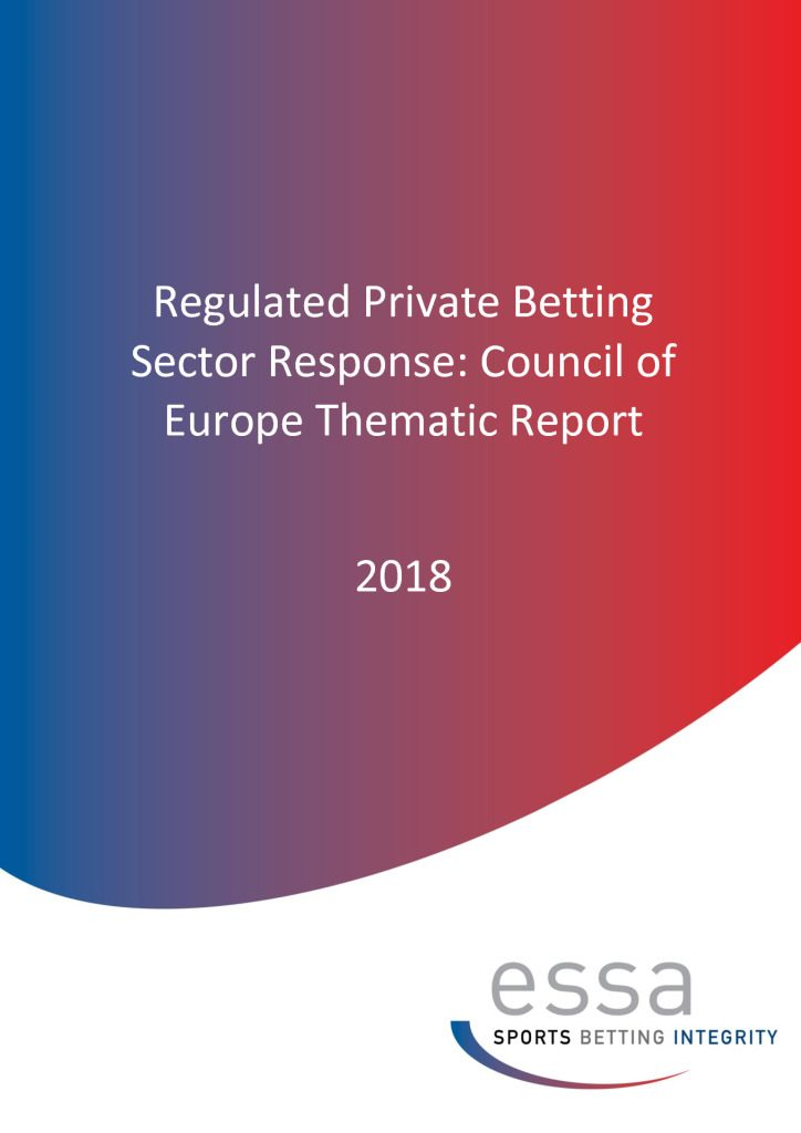 Thematic Report – ESSA – Betting Integrity Research Project