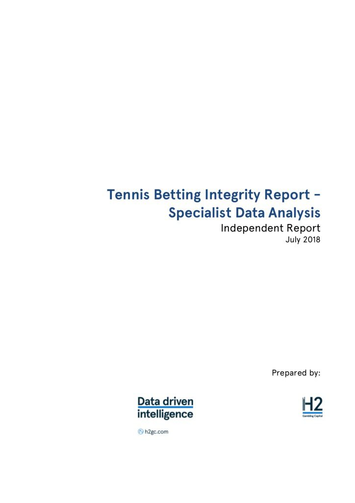 H2 ESSA & Sportradar Tennis Betting Integrity Report Analysis – FINAL VERSION UPDATED 17 AUG