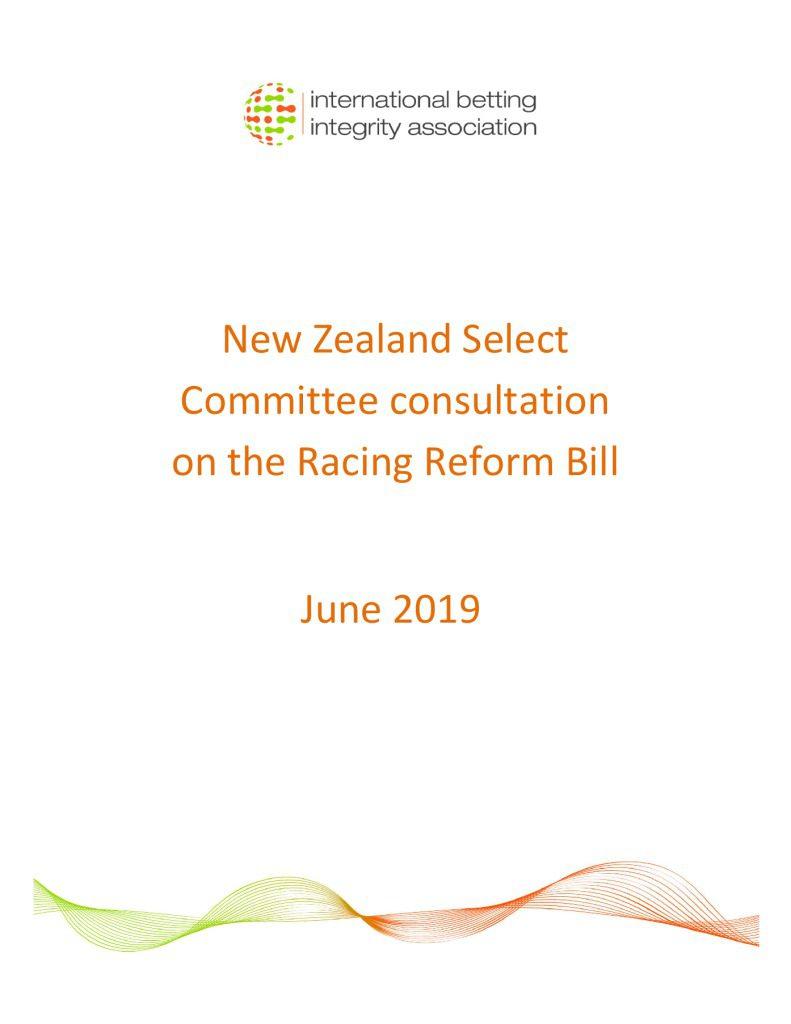NZ Racing Reform Bill con. FINAL June 2019