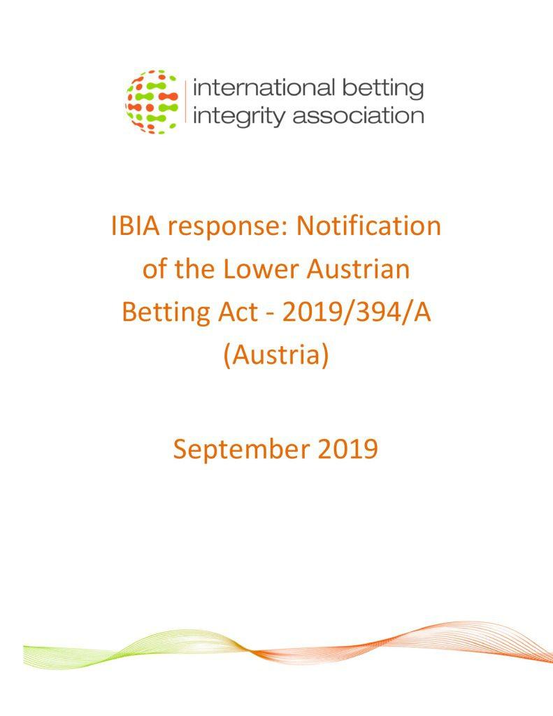 IBIA response – Lower Austria TRIS notification September 2019 FINAL